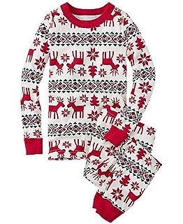 Pijamas Navidad Familia Conjunto Pantalon y Top Fiesta Manga Larga Trajes Navideños Pijama Dos Piezas Mujer