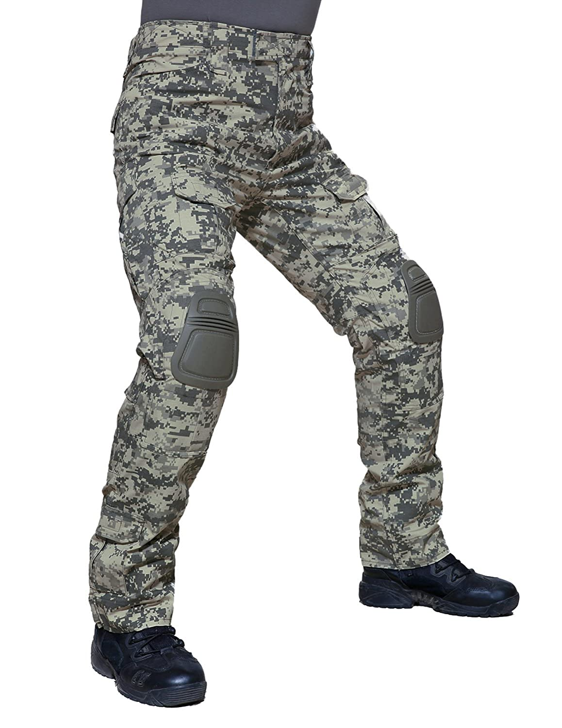 TACVASEN Tactical Ripstop Combat Trousers Airsoft Pants with Knee Pads SZQTP-62