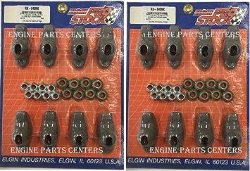 Chevy 265 283 305 327 350 400 Elgin Long Slot Steel Rocker Arms Set 7//16+1.5