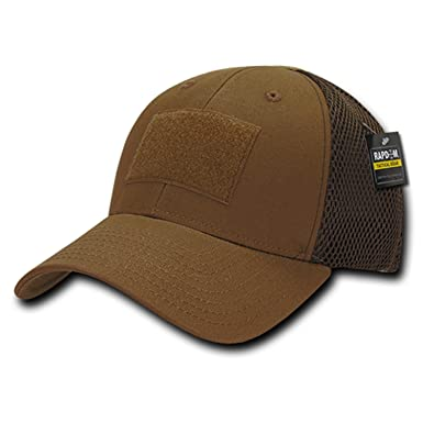 Image Unavailable. Image not available for. Color  BHFC Coyote Tactical  Operator Contractor Patch Low Crown Mesh Flex Baseball Fitted Cap Hat dd3d072ef99