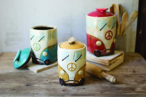 KALALOU Ceramic Van Canisters with Surfboard Handles, One Size, Multicolored