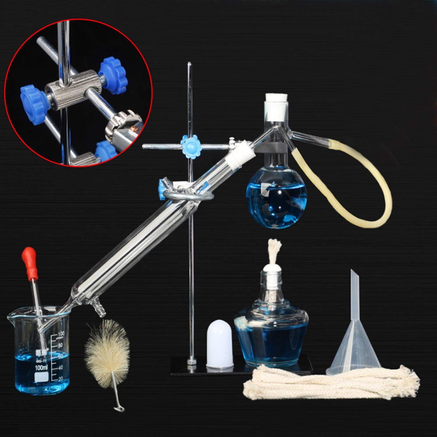 Distillation Apparatus For Organic Chemistry Lab Glassware Set Steam Distillation Apparatus Essential Oil Extraction Assembly Making Distilled Water Processing Extraction Purity In The Laboratory Amazon Com Industrial Scientific