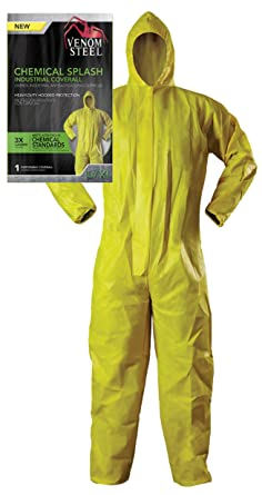 fe4317b7524 Venom Steel Disposable Chemical Splash Industrial Coverall