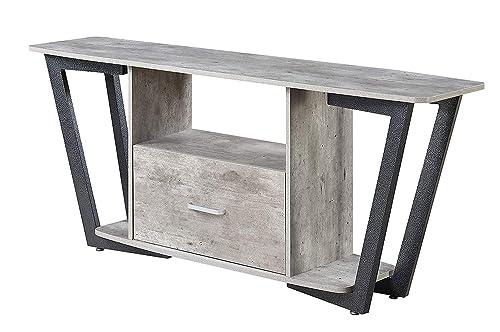 Convenience Concepts Graystone Stone TV Stand, 60 , Gray Black
