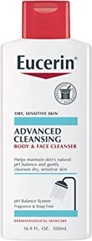 Eucerin Advanced Cleansing Body & Face Cleanser 16.9 Fl. Oz