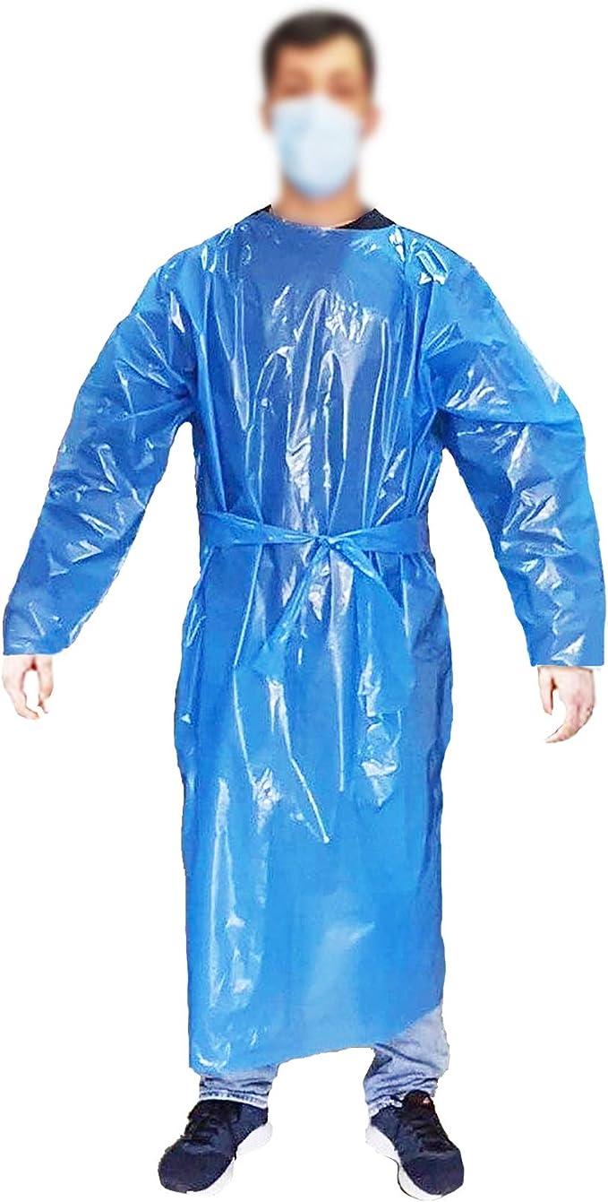 wasserabweisend Farbe aus PVC Reinigung Gartenarbeit blau Schutzanzug Kunststoff wasserdicht Einweg-Schutz Einweg-Sch/ürze Arbeitskleidung TEKSHOPPING Schutzanzug