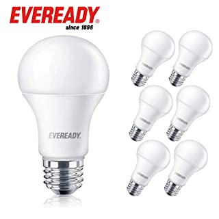 Eveready Led Light Bulbs, Non-Dimmable, 1600 Lumens, 2700K Soft White Color, 14-Watt (100W Bulb Equivalent) A19 E26 Base, UL Listed - 6 Pack