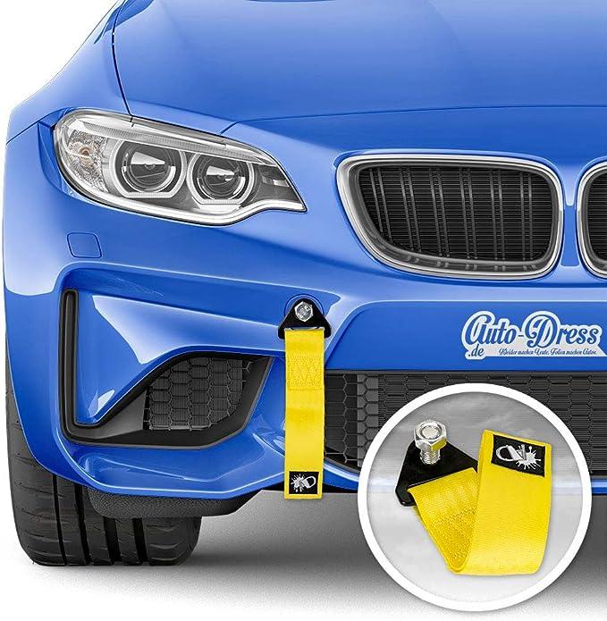 Auto Dress Rallye Drift Schlaufe Rennsport Motorsport Abschlepptau Tau Racing Hook Tow Strap Abschleppschlaufe Schlaufe In Verschiedenen Farben Gelb Auto