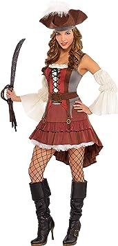Disfraz de Pirata elegante para mujeres en varias tallas: Amazon.es ...