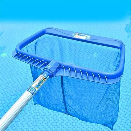 chunnuan Rastrillo de piscina Skimmer Skimmer Net Herramienta para limpieza de piscina, A