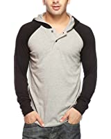 Gritstones Men's Hooded Cotton T-Shirt