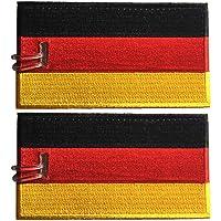 Etiquetas de equipaje, bandera de Alemania, bordada, paquete