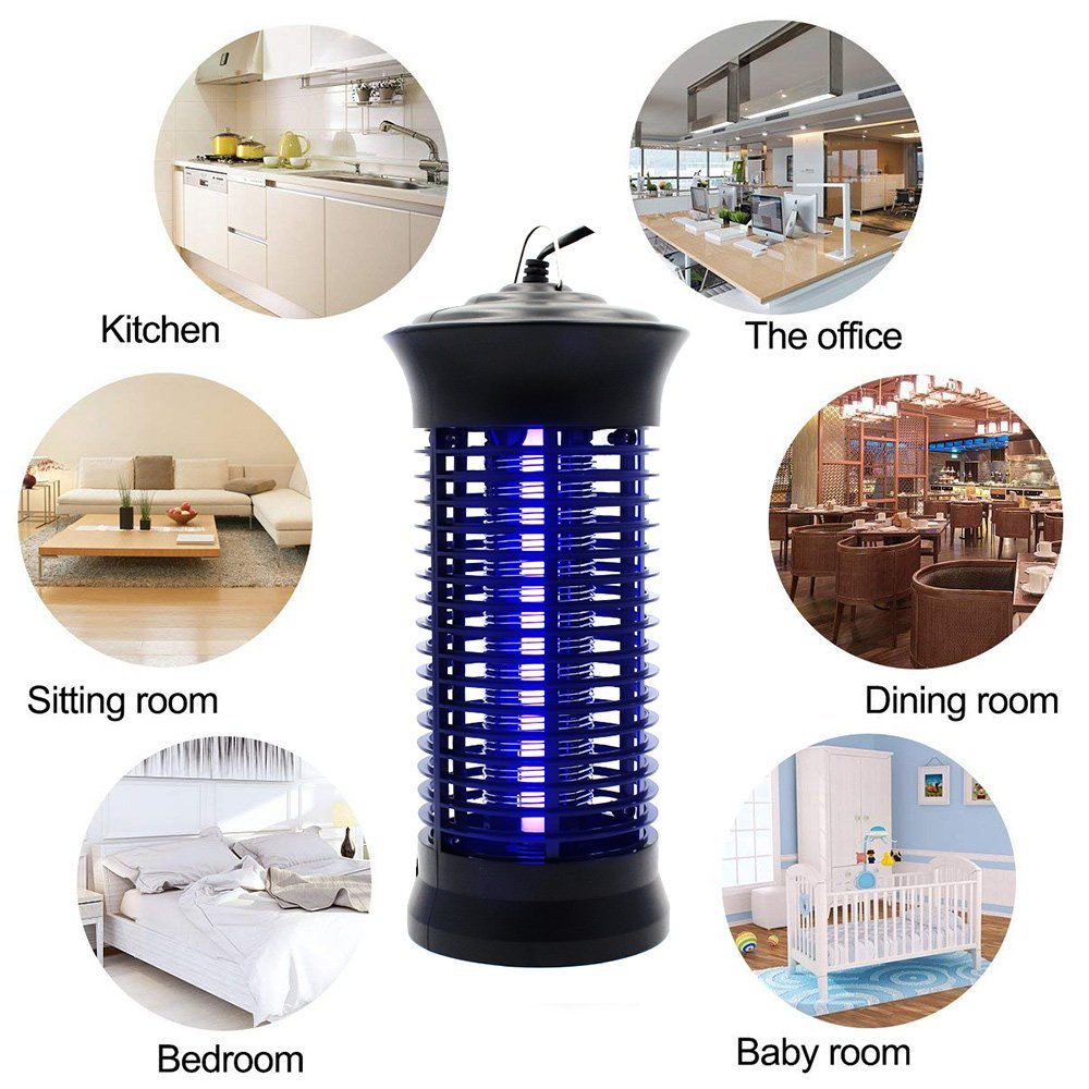 Bug Zapper Mosquito Killer - Mosquito Trap Mosquito Killer Lamp Non-Toxic LED Insect Pest Bug Mosquito Zapper Repellent Trap Repeller with Hook for Home, Indoor, Bedroom, Kitchen by Fomei