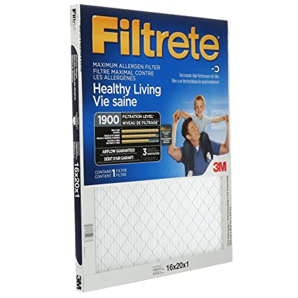 Filtrete Healthy Living Ultimate Allergen Reduction Filter, MPR 1900, 16 x 20 x 1