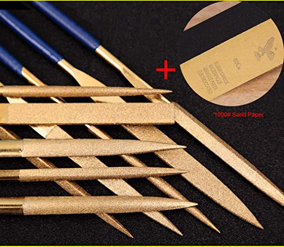 6pc Needle File Set For Hobby Craft Wood Ceramic Metals Total Length 140mm