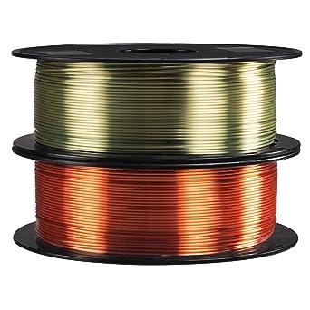 2 carretes de filamento de impresora 3D PLA de cobre rojo ...