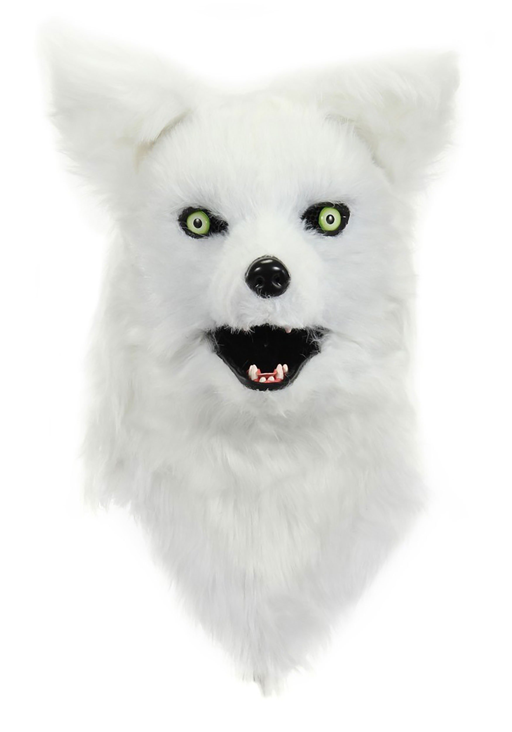 elope White Fox Mouth Mover Mask