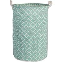 DII Cotton/Polyester Basket Laundry Hamper, 13.75x13.75x20, Aqua