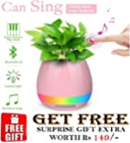 Music Flowerpot,Smart Plant pots,Touch Music Plant Lamp with Rechargeable Wireless Bluetooth Speaker and LED Night LAMP Perfect Gift Choice (without Plant)and (Get a FREE Gift worth of Rs-149/- with this purchase of this product)from ZONGG MODEL 176495