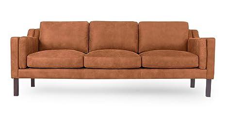 Amazon.com: Kardiel Monroe Mid-Century Modern - Sofá (piel ...