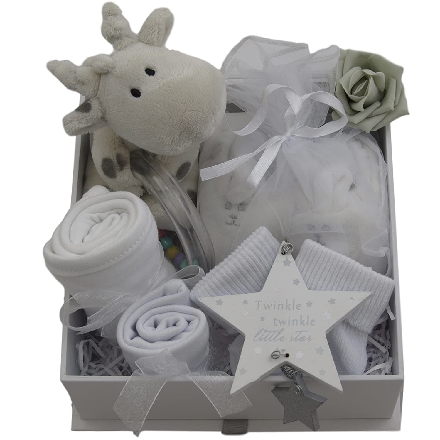 Baby Gift Basket Baby Gift Hamper Unisex Neutral Packed Twinkle Keepsake Box Baby Shower Gift New Baby Gift boy Girl Unique Baby Gift Baskets