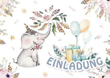 Edition Colibri Elefant 11032 - Invitaciones para cumpleaños ...