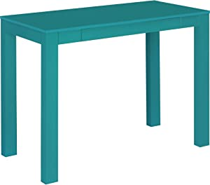 Ameriwood Home Parsons Desk with Drawer, Teal