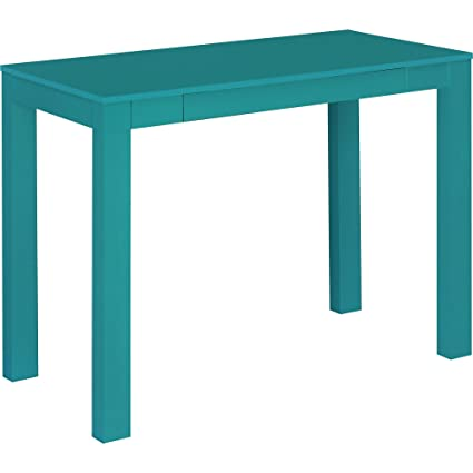 Ordinaire Amazon.com: Ameriwood Home Parsons Desk With Drawer, Teal: Kitchen U0026 Dining