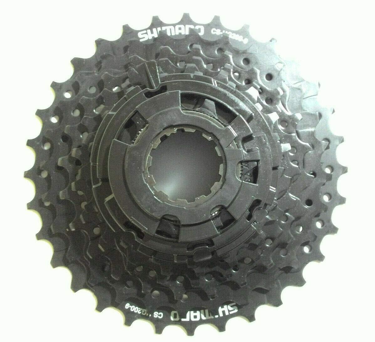 JKSPORTS ShimanoAlivio CS-HG200 9-Speed Mountain Bike Cassette CS-HG200 Road MTB Mountain Bike Cassette Sprocket 9Speed 11-34T Cassette