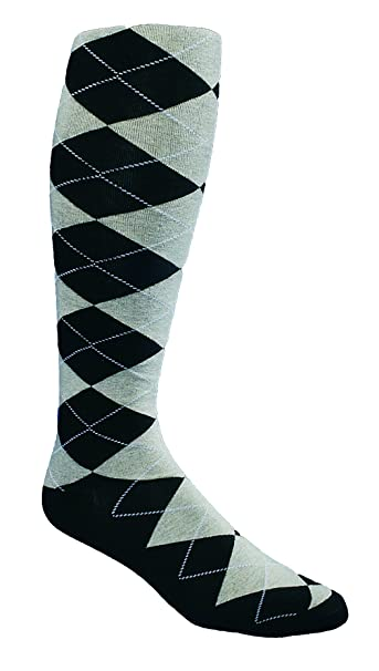 2b537ec42 Kings Cross Knickers The Highlands Argyle Women s Golf Sock Collection -  Black Khaki White