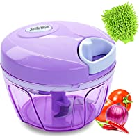 Smile Mom Handy Vegetable Chopper, Cutter for Kitchen, 3 Stainless Steel Blade with Free Microfiber Gloves
