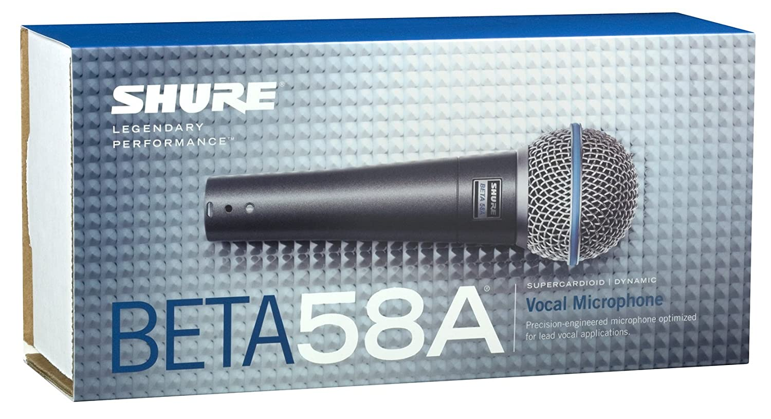 Amazon.com: Shure BETA 58A Supercardioid Dynamic Microphone with ...