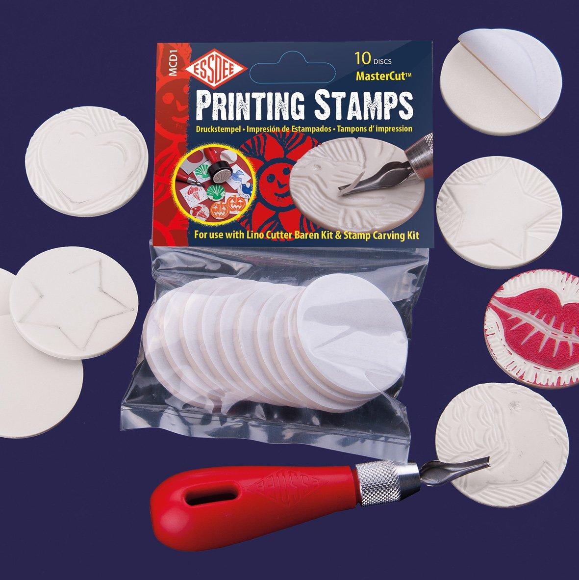 Essdee autoadesivo Mastercut stampa francobolli, per uso con Cutter Lino e Kit per intagliare timbri, legno MCD1