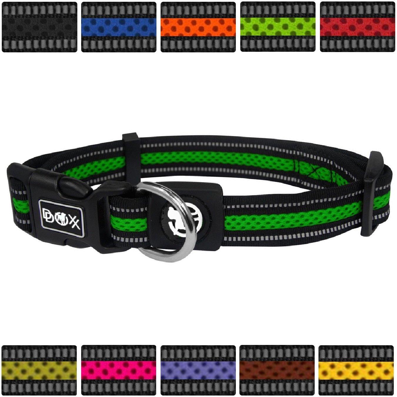 DDOXX Hundehalsband Air Mesh | Hundehalsband Reflektierend Air Mesh | für große, mittelgroße, Mittlere & Kleine Hunde Größen | Hundeleine & Hundegeschirr separat erhältlich | XL doggy-world