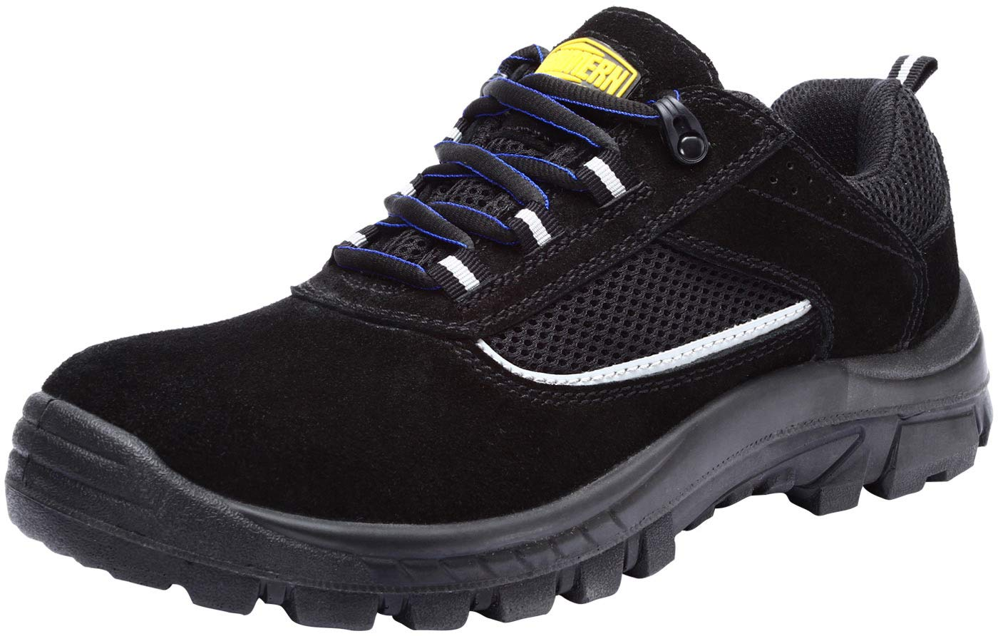 LARNMERN Safety Shoes Men Athletic Steel Toe Work Sneaker Lightweight Breathable Industrial & Construction Shoes (13 Women/10 Men, Black) by LARNMERN