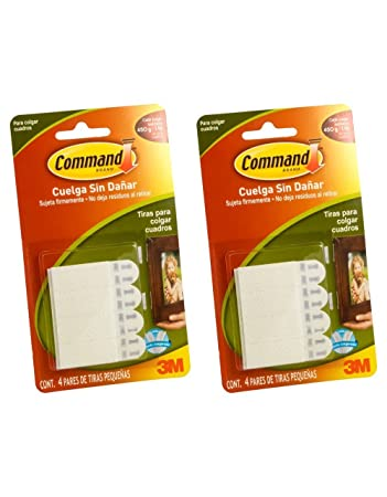 Command Small Picture Hanging Strips White 4 Strip 2 Pack