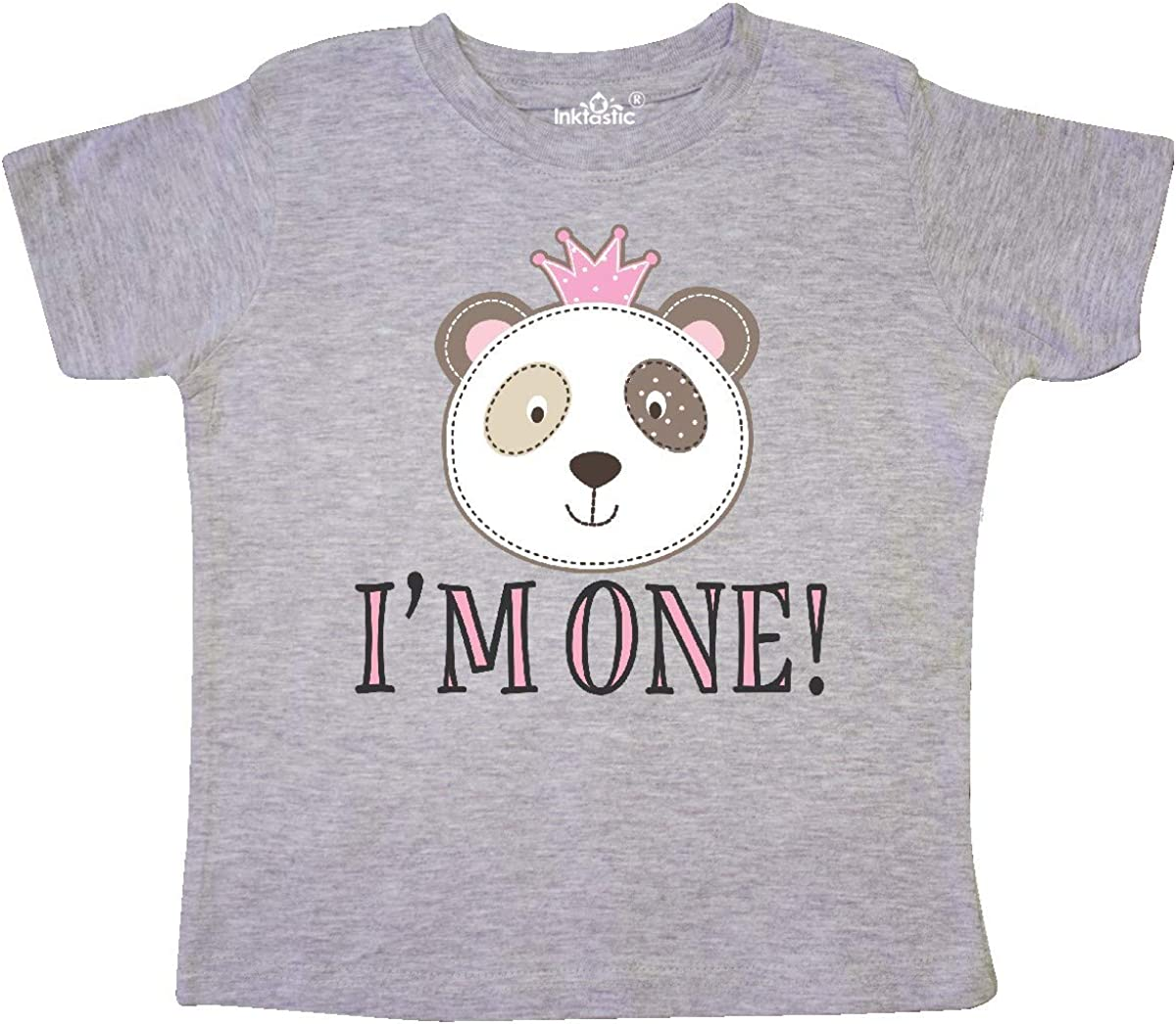 inktastic First Birthday Panda 1 Year Old Girl Toddler T-Shirt