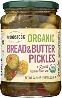 product image for Woodstock Farms Woodstock Bread & Butter Sweet Pickles (6x24 Oz)