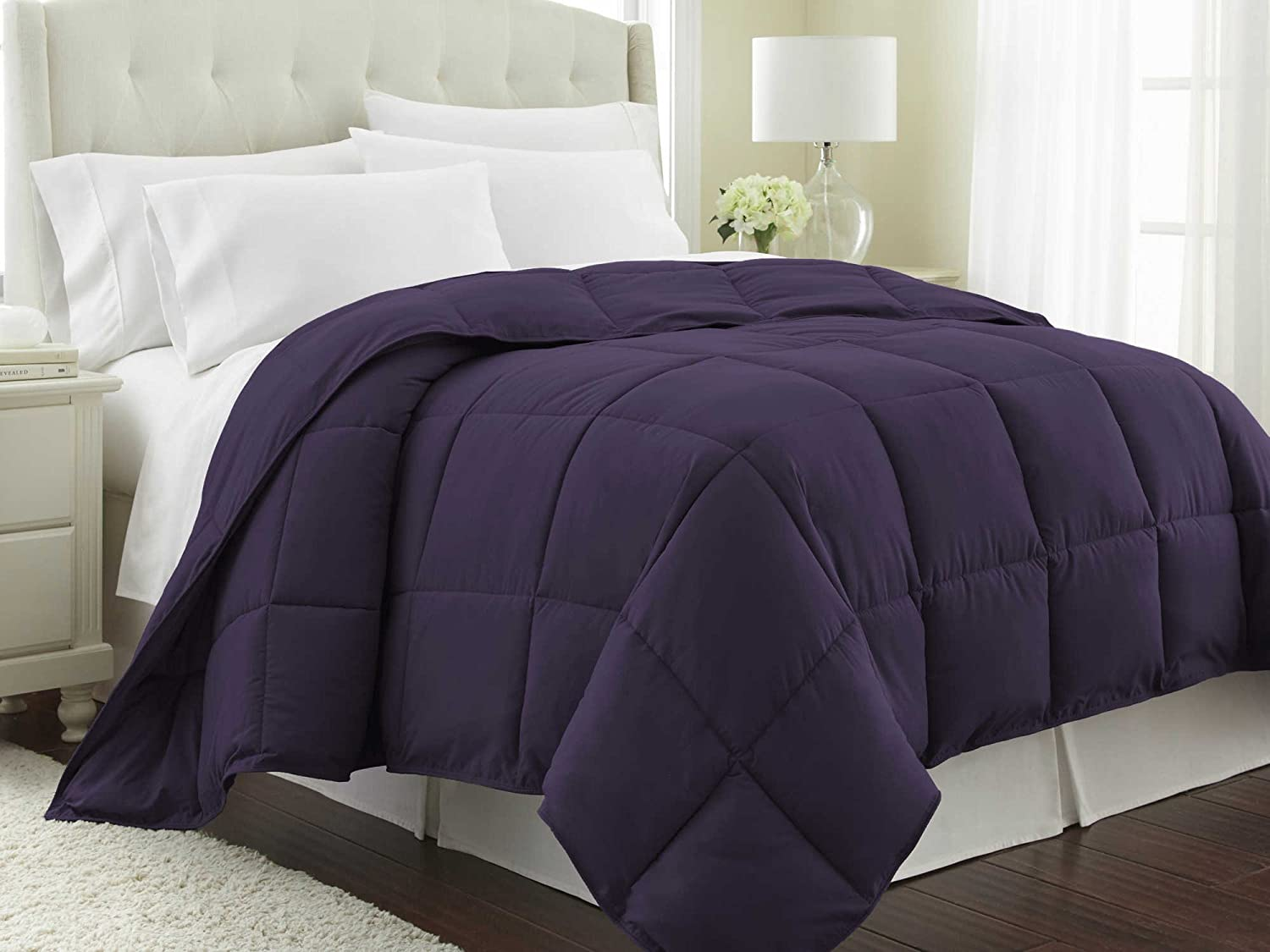 Southshore Fine Linens - Vilano Springs - Down Alternate Weight Comforter - Eggplant Purple - KING / CALIFORNIA KING