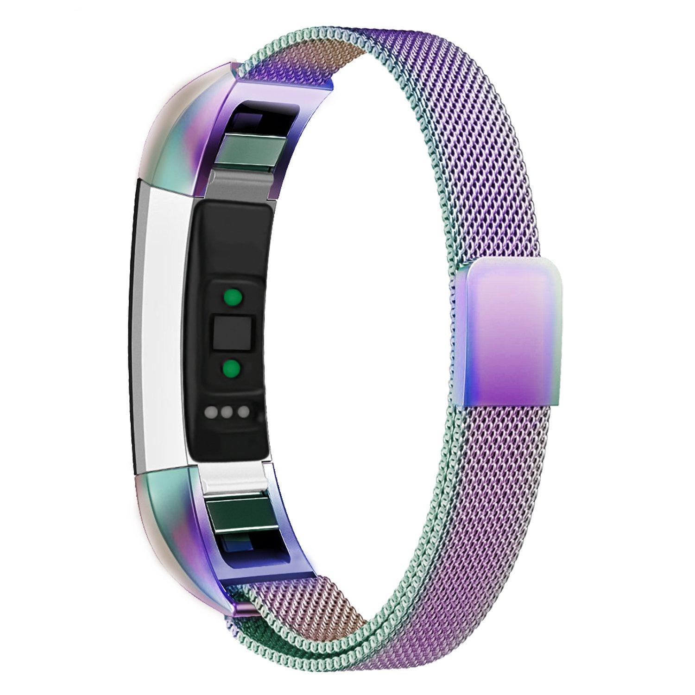 Oitom Fitbit Accessory Silver Rainbow Image 1
