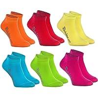 Rainbow Socks - Niños y Niñas - Calcetines Cortos de Algodón - 6 Pares - Naranja Rojo Amarillo Azul Verde Rosa - Talla…