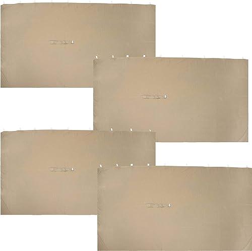 Sunnydaze 10-Foot x 13-Foot Gazebo 4-Piece Polyester Sidewall Set