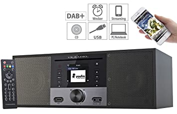 Beau VR Radio Kompaktanlage: Stereo Internetradio M. CD Player, DAB+/