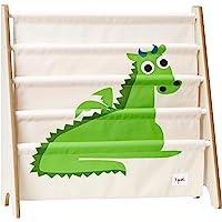 3 Sprouts Book Rack – Kids Storage Shelf Organizer Baby Room Bookcase Furniture, Dragon