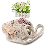 Reusable Cotton Mesh Net Ecology Shopping Bag by Uharbour, Great Christmas Gift Woven Grocery Carrying Tote for Fruits,Vegetables,Toys Etc