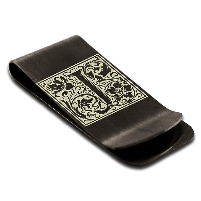 matte black stainless steel letter j initial floral box monogram