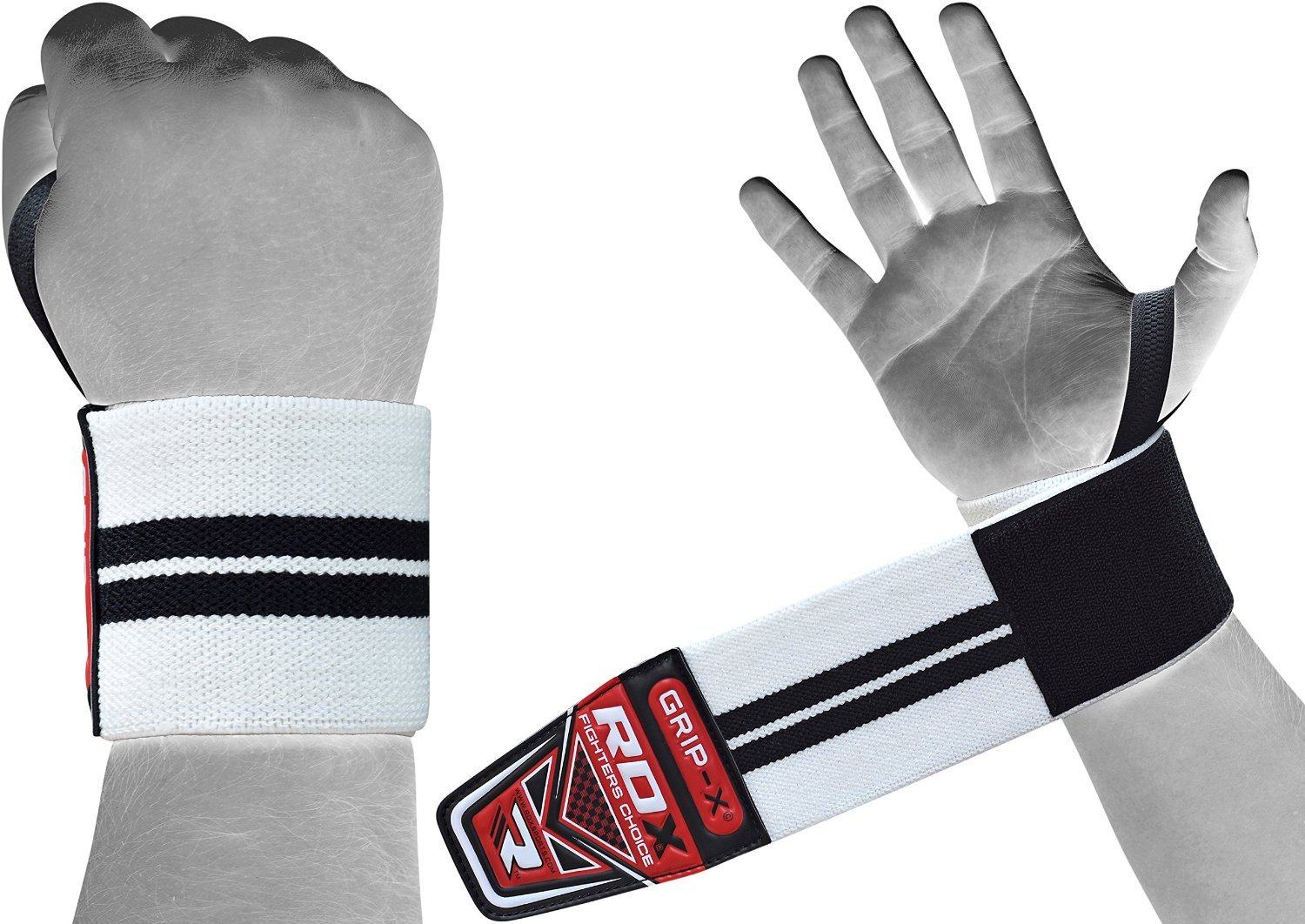 Workout and Xfit Exercise Powerlifting Bodybuilding Gymnastics Elasticated Straps Strength Training RDX Weight Lifting Wrist Support Wraps with Thumb Loop