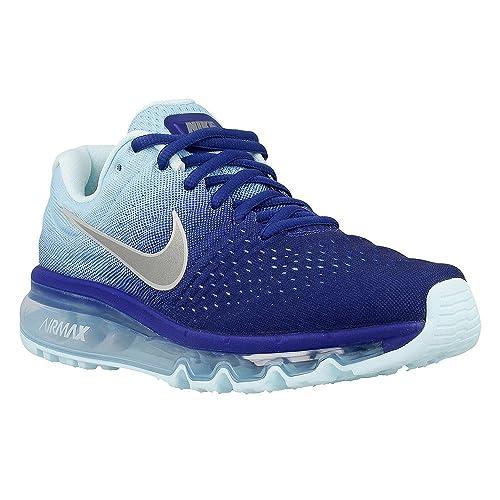 82a04b49e5e2 Nike Nike Air Max 2017 Big Kids Style 851623 Big Kids 851623-400 Deep Royal  Blue Summit White Black Cap Glacier Blu 5.5 Big Kid M  Amazon.in  Shoes    ...