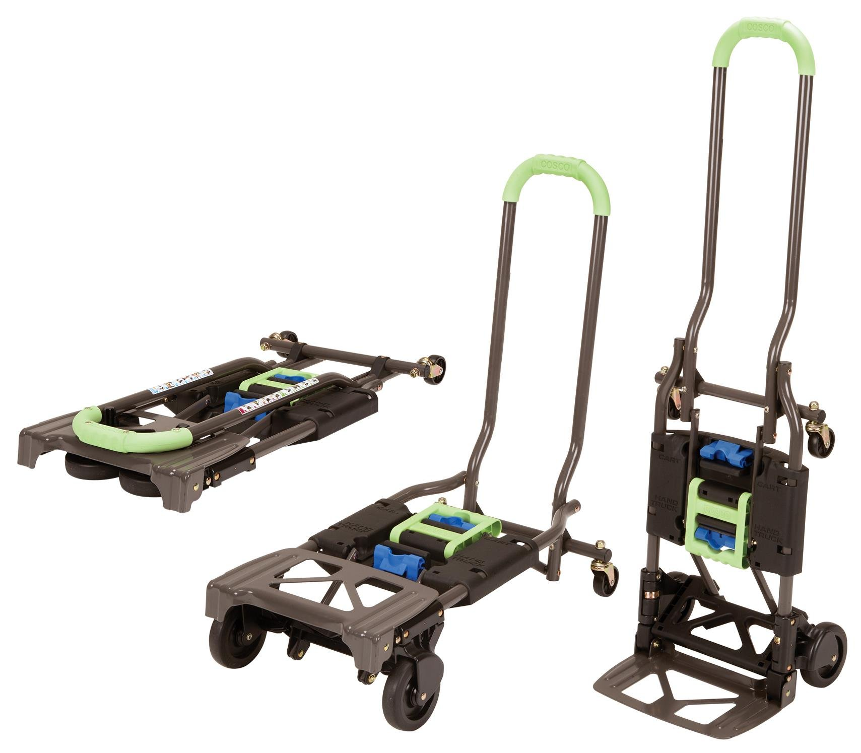 Cosco Shifter 300-Pound Capacity Multi-Position Heavy Duty Folding Hand Truck and Dolly, Green by Cosco