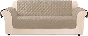 SureFit Throw Cover-Microfiber Non Slip-Water Resistant-70 Inches Wide-Machine Washable-100% Polyester, Sofa, Taupe